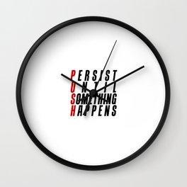 P U S H Wall Clock