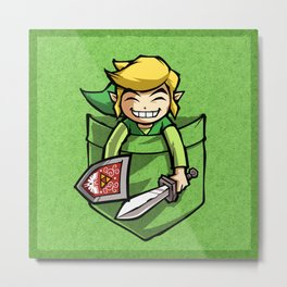 HAPPY POCKET LINK Metal Print