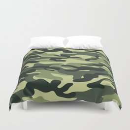 Green Military Camouflage Pattern Duvet Cover