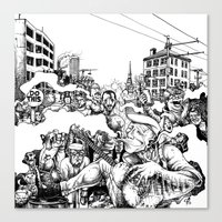 baltimore Canvas Prints featuring Baltimore by Clark Bint