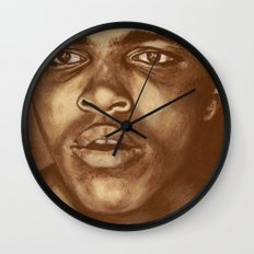 round 1...cassius clay Wall Clock