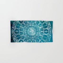 Rosette Window - Teal Hand & Bath Towel