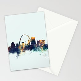 St Louis Missouri Skyline Stationery Cards