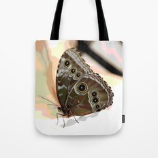 Bulls Eye Butterfly Tote Bag