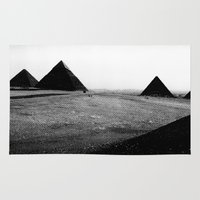 egypt Area & Throw Rugs featuring Egypt, Pyramids by DLS Design