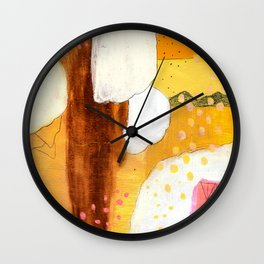 Goldish Wall Clock