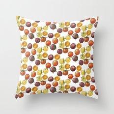 Heirloom Cherry Tomatoes Throw Pillow