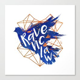 Ravenclaw Bronze Splatter Canvas Print