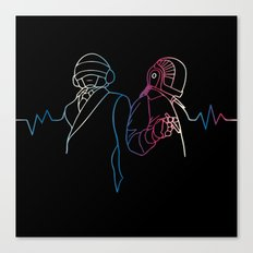 Daft Punk Sound Canvas Print