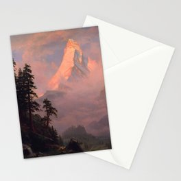 Sunrise on the Matterhorn by Albert Bierstadt Stationery Cards