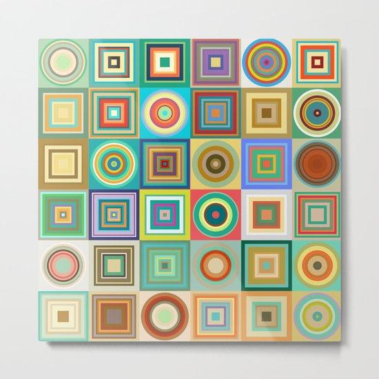 Geometric type Metal Print