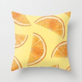 Orange Slice Delight Throw Pillow