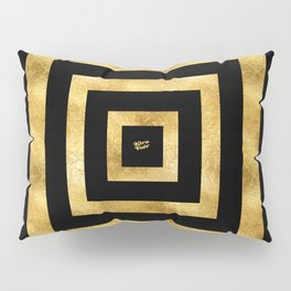 ART DECO SQUARES BLACK AND GOLD #minimal #art #design #kirovair #buyart #decor #home Pillow Sham