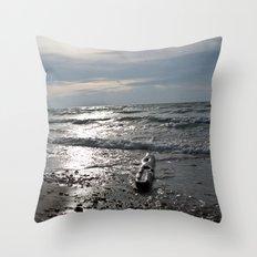 Logtrast Throw Pillow