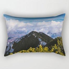 Never stop hiking Rectangular Pillow