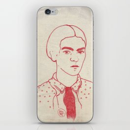 Frida in red iPhone Skin