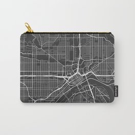 St Paul Map, USA - Gray Carry-All Pouch