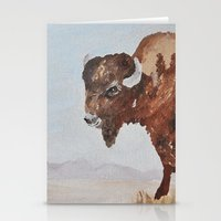 buffalo Stationery Cards featuring Buffalo by TheWildPlum