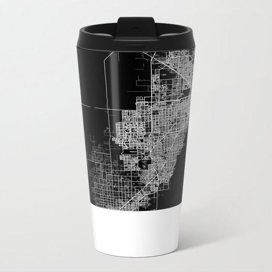 miami map Metal Travel Mug