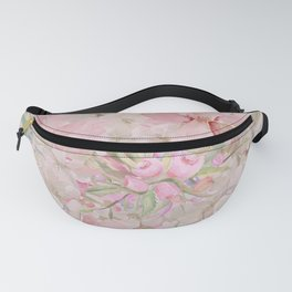 Modern Pastel Pink Watercolor Chic Floral Fanny Pack