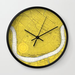 Vintage Map of New Orleans LA (1966) Wall Clock