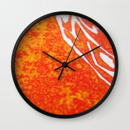 Peacock of Fire Wall Clock