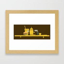 On Board Framed Art Print