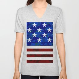 Stars & Stripes (Camouflage) Unisex V-Neck