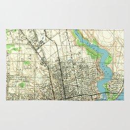 Vintage Map of Pensacola Florida (1944) Rug
