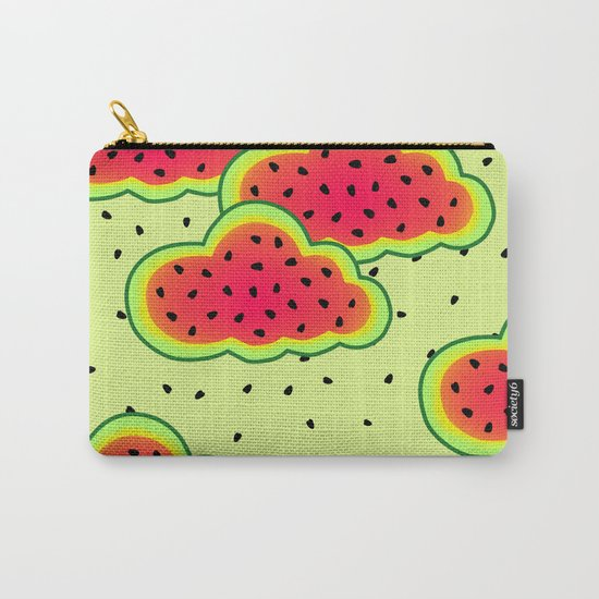 Watermelon Clouds Design Carry-All Pouch