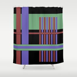 Abstract #407 Shower Curtain