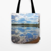 mirror Tote Bags featuring Mirror by NaturallyJess