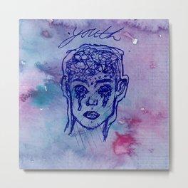 "Troye Sivan ""Youth"" Pen Watercolor Drawing Metal Print"