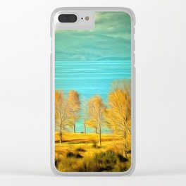 Ohrid Lake blue Clear iPhone Case