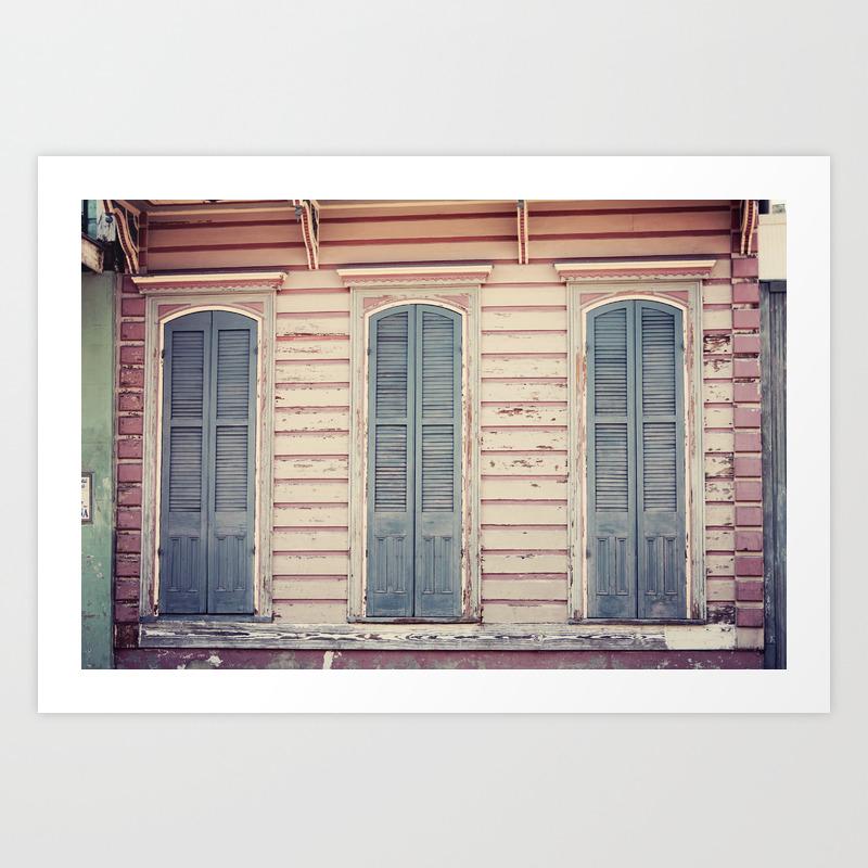 Three Shutters New Orleans French Quarter Art Print