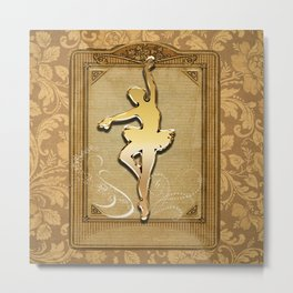 Golden ballerina Metal Print