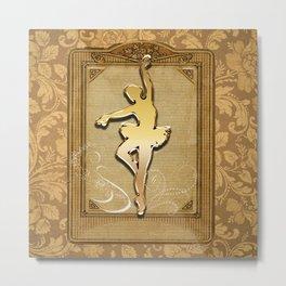 Golden ballerina Metal Print