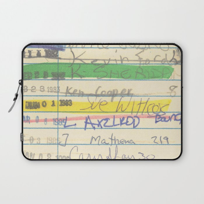 Library Card 3503 Exploring the Moon Laptop Sleeve