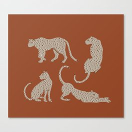 Leopard Block Party Canvas Print