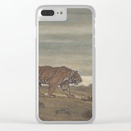 Vintage Illustration of a Striped Tiger (1875) Clear iPhone Case