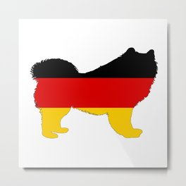 German Flag - Samoyed Metal Print