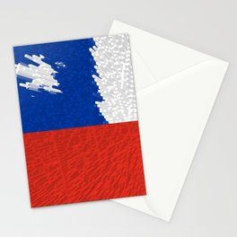 Extruded Flag of Chile Stationery Cards