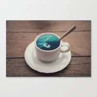witchoria Canvas Prints featuring Surf's Cup by witchoria