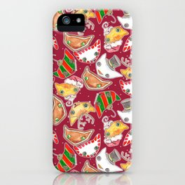 """""""Oro?"""" Christmas WINE RED iPhone Case"""