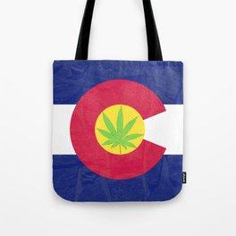 pot leaf colorado flag  Tote Bag