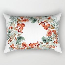 Rust and Blue Rectangular Pillow