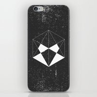 hexagon iPhone & iPod Skins featuring Hexagon by eARTh