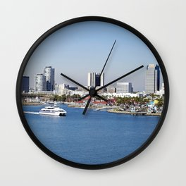 Shoreline Village in Long Beach, California Wall Clock