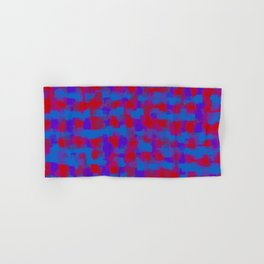 blue purple and red pattern painting abstract background Hand & Bath Towel