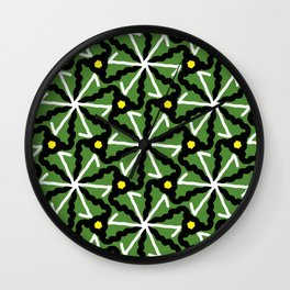 colorful illusion pattern background Wall Clock